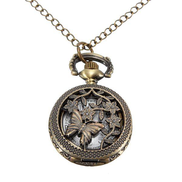 Vintage hodinky na řetízku s motýlím motivem a poštovné ZDARMA s dodáním do 3 dnů! - 4407507
