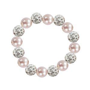 Dámský náramek se světle růžovými perlami Swarovski Royal Adamas
