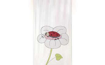 Vzdušná dekorační záclona/závěs beruška