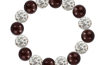 Dámský náramek s hnědočervenými perlami Swarovski Royal Adamas