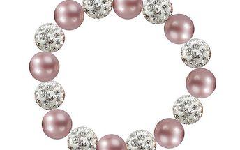Dámský náramek s růžovými perlami Swarovski Royal Adamas