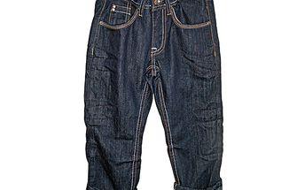 Krásné tmavě modré klučičí džíny v pase na knoflík