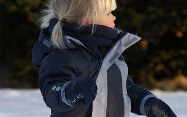 Dětská zimní šedá kombinéza
