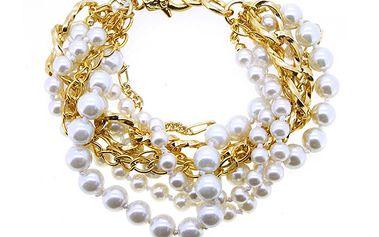 Masivní náramek s perličkami od Solv & Art