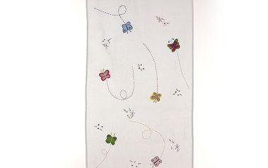 Dekorační záclona/závěs motýlci