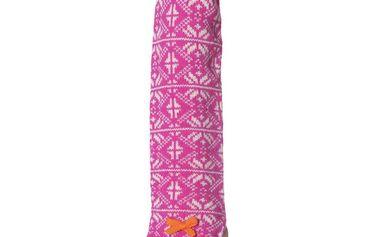 Stylové pletené návleky na ruce - pink 540