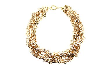 Zlatý zapletený náhrdelník