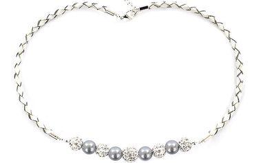 Dámský náhrdelník s jemně fialovými perlami Swarovski Royal Adamas
