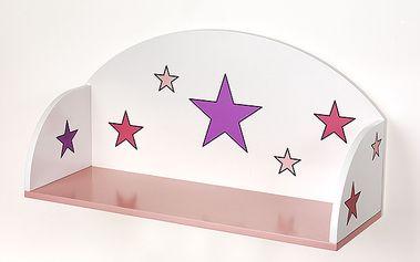 Polička hvězdy pro dívky
