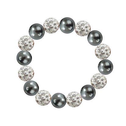 Dámský náramek s šedostříbrnými perlami Swarovski Royal Adamas