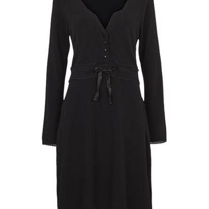 Krásné velmi pohodlné úpletové šaty Black