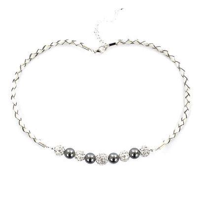 Dámský náhrdelník s šedostříbrnými perlami Swarovski Royal Adamas