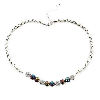 Dámský náhrdelník s duhovými perlami Swarovski Royal Adamas