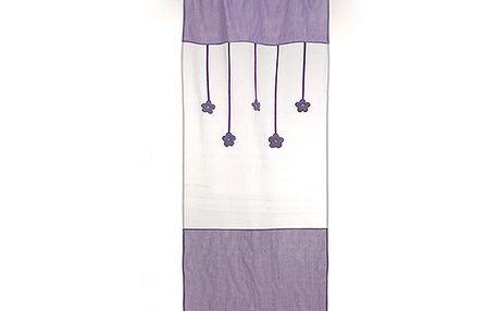 Dekorační záclona/závěs levandule