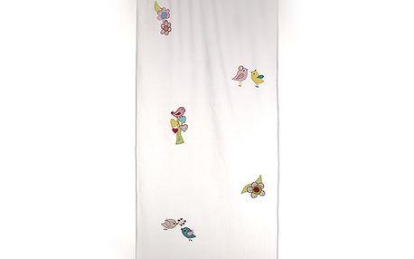 Dekorační záclona/závěs ptáčci