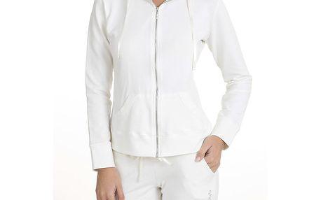 Dámská krémově bílé pyžamo s mikinou QBO