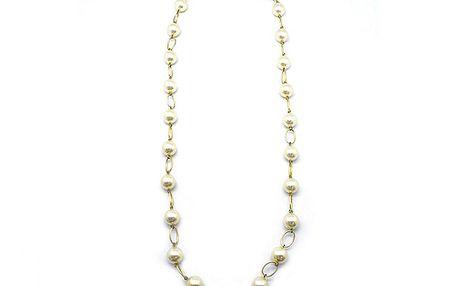 Zlatý řetízek s perličkami od Solv & Art