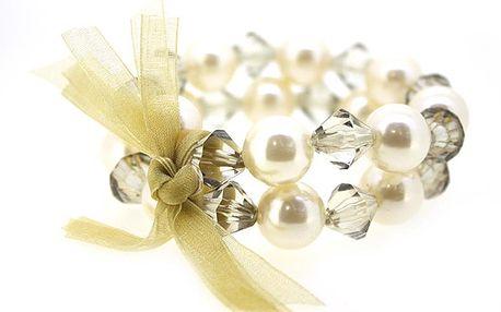 Korálkový náramek s perličkami od Solv & Art