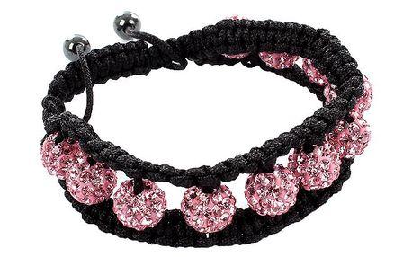 Dámský růžový shamballa náramek Royal Adamas
