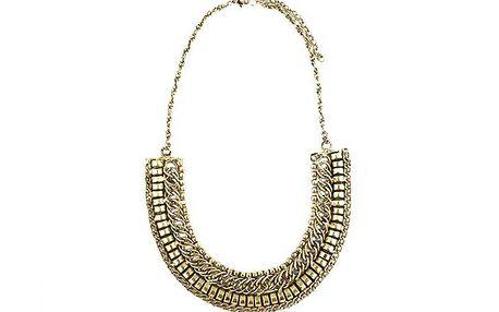 Zlatý zdobený náhrdelník
