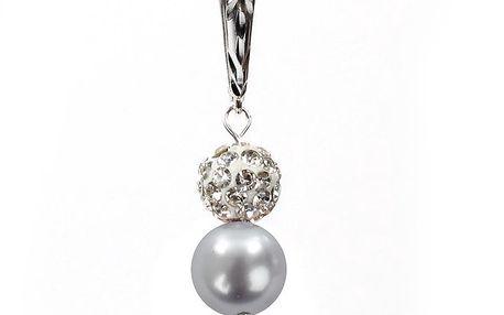 Dámské náušnice s jemně fialovou perlou Swarovski a stříbrným zapínáním Royal Adamas