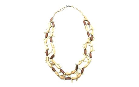 Dřevěný korálkový náhrdelník
