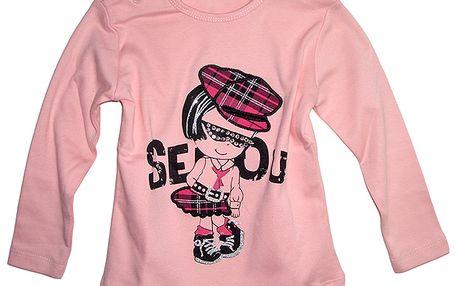 Růžové tričko s panenkou