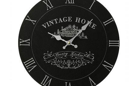 Černé hodiny Vintage Home do každého interiéru s klasickým nábytkem