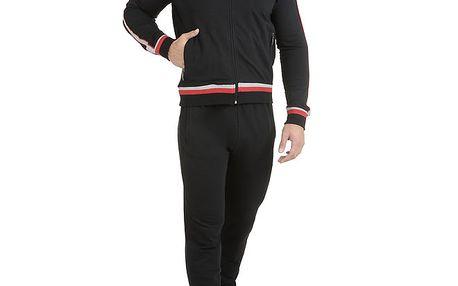 Pánské černé pyžamo - mikina a kalhoty QBO