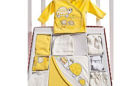 Žlutý velký set pro novorozence s želvičkou