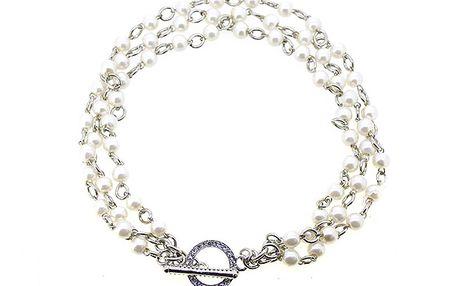 Bohatý kratší náhrdelník s perličkami