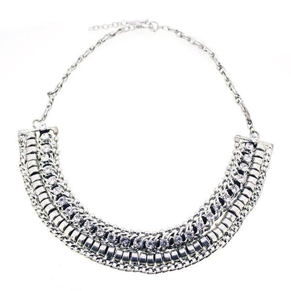 Stříbrný zdobený náhrdelník