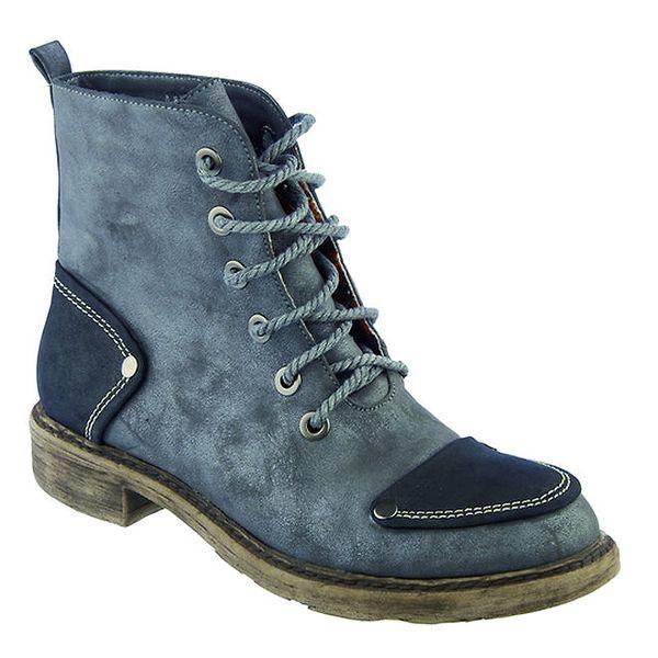Dámské modré šněrovací boty Betsy