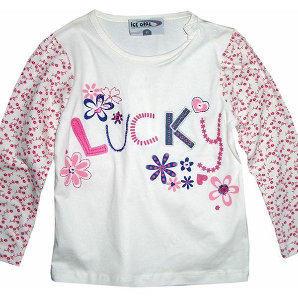 Bílé tričko Lucky