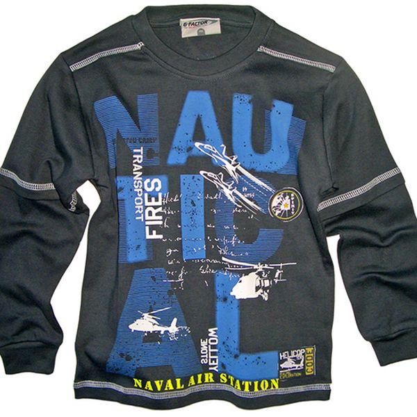 Černé tričko Nautical
