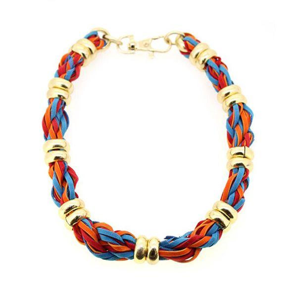 Barevný pletený náhrdelník