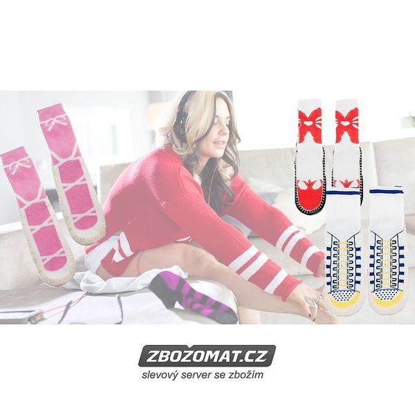 Domácí ponožky s vtipnými vzory!