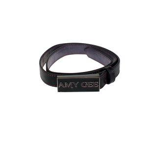Elegantní černý úzký pásek Amy Gee