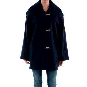 Dámský modrý kabát s širokými rukávy Amy Gee