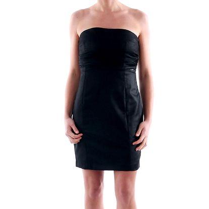 Dámské černé šaty bez ramínek Amy Gee