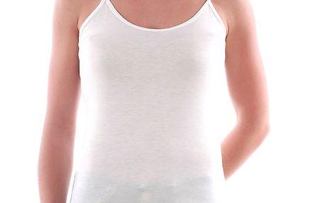 Dámské bílé tílko na úzká ramínka Amy Gee