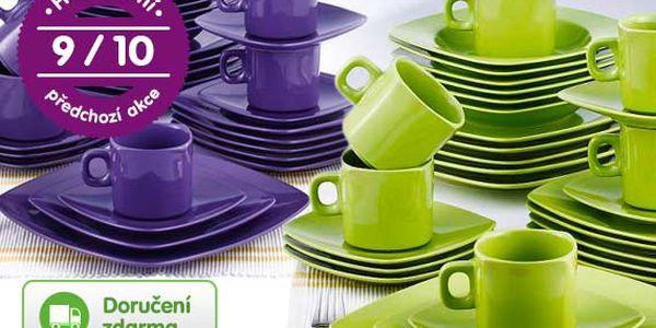 30dílná sada keramického nádobí – 4 barvy