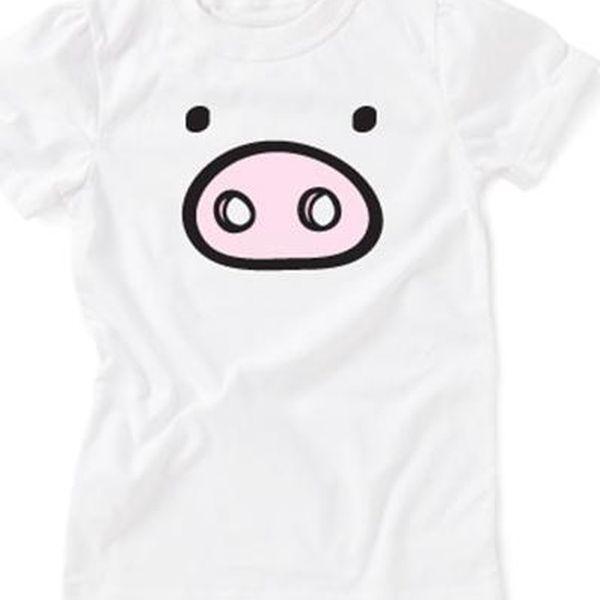 Bílé tričko prasátko pro holčičky