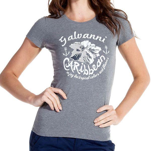 Dámské šedé tričko s potiskem Galvanni