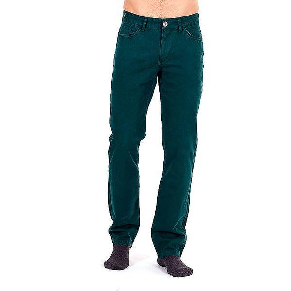 Pánské tmavě zelené kalhoty Galvanni