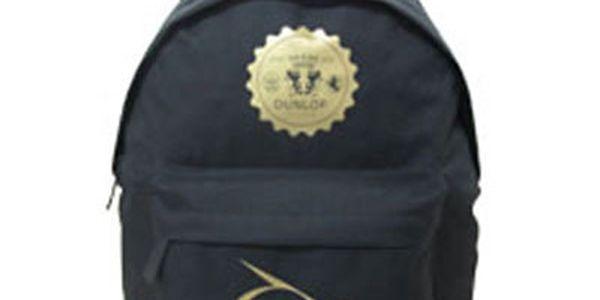 Černý batoh s potiskem Dunlop