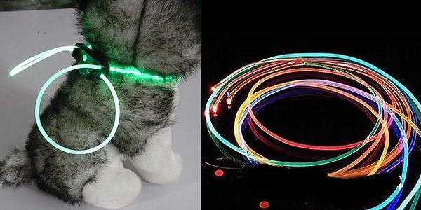 Svietiace LED obojok v rôznych farbách pre každého psíka s dobou svietenia až 80 hodín a 3 variantmi svietenie LED pásku!
