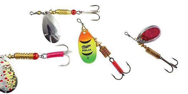 Rotačný blyskáč pre prívlač COOL FISHING STRIPE 6g - pri vláčení vodným stĺpcom sa chová ako