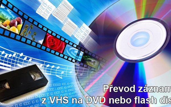 Převod záznamu z VHS na DVD s 46% slevou
