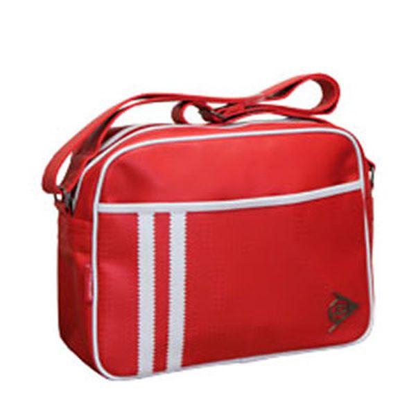 Červenobílá taška přes rameno Dunlop